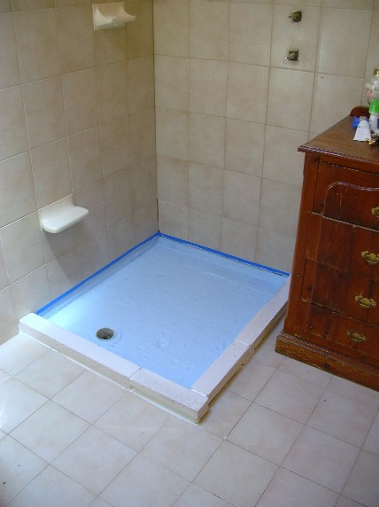 New tiling floor before
